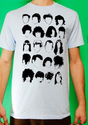 History of Rock N Roll Hair Mens Light Blue T-shirt