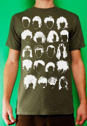 History of Rock N Roll Hair Mens Military T-shirt