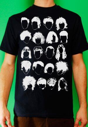 History of Rock N Roll Hair Mens Navy T-shirt