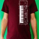 Casio sk-1 sampling synth keyboard analog retro vintage Mens Burgundy t-shirt