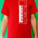 Casio sk-1 sampling synth keyboard analog retro vintage Mens Red t-shirt