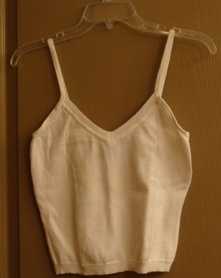 BCBG Camisole Cream Cotton knit layer for fall! PRETTY!