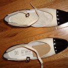 BRUNO MAGLIA BLACK/WHITE Mary Janes PATENT LEATHER 35