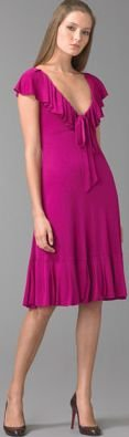 "DVF Diane Von Furstenberg Fuschia ""Baila"" Dress 6 hot!!"
