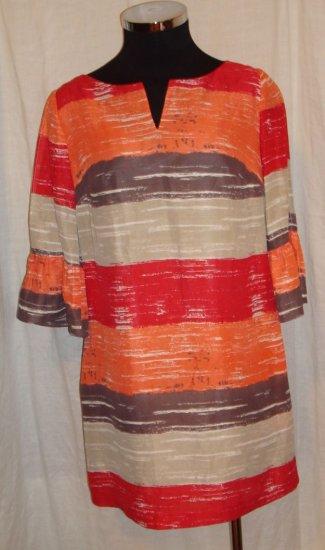 HERA CLOTHING DRESS red striped latern sleeve NET-A-PORTER.COM