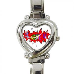 I Love U Heart Italian Charm Watch BRAND NEW!