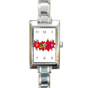 I Love U Rectangular Italian Charm Watch BRAND NEW