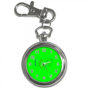 I Love you in Green Key Chain / Pocket  Watch