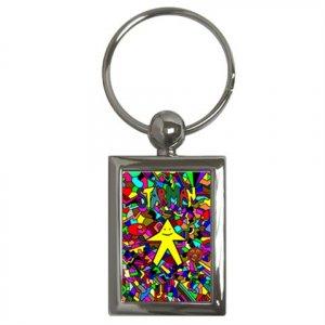 STARMAN-PCArt Key Chain (Rectangle)