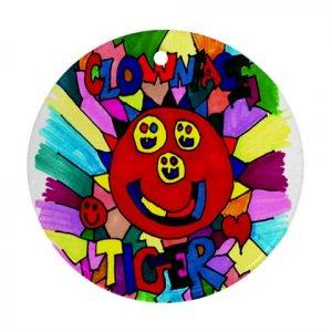 Clownface Tiger Ornament (Round)