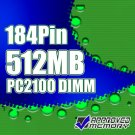 512MB RAM DDR PC2100 266MHz 184pin Computer Memory
