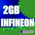 2GB DDR-2 PC2-3200 240 Pin ECC Registered Single Rank INFINEON Memory