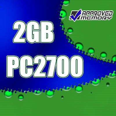 2GB (2x1GB) RAM PC2700 DDR 333MHz Apple PowerMac Power Mac G4 1.25GHz Memory Kit M9145LL/A