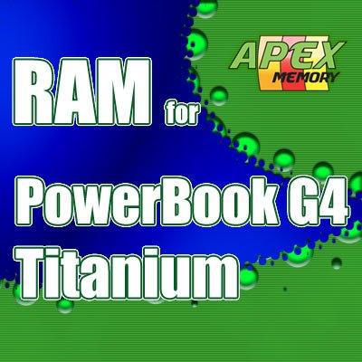 1GB Kit 2X 512MB RAM Memory Kit for Apple PowerBook G4 Titanium 550MHz M8362LL/A