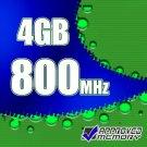 4GB 2x 2GB PC2-6400 800MHz DDR2-800 SDRAM SODIMM Memory Kit for Dell Latitude E5500