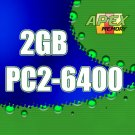 2GB RAM PC2-6400 800MHz DDR2-800 SDRAM 200 Pin SODIMM Laptop Memory Module