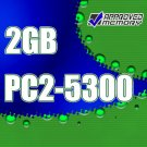 2GB 2x 1GB  RAM 667MHz PC2-5300 SODIMM Memory Kit for Acer Aspire 9410