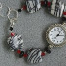 """Zebra Wore Red"" bracelet watch"