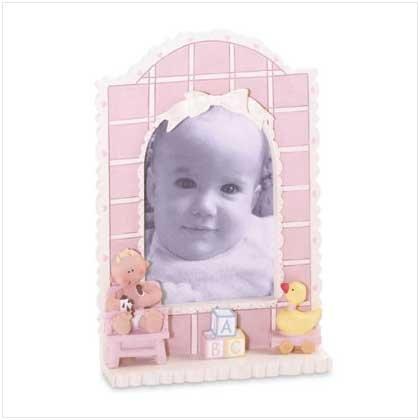 Baby Girl Quilt Photo Frame