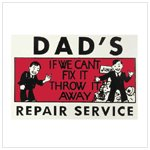 Dad's Repair Service Tin Sign