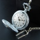 Train Head Pocket Watch with Chain.