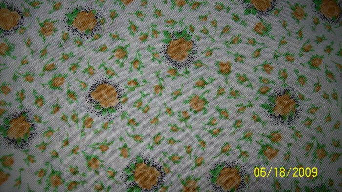 CHANTECLAIRE CLASSIC BLOOMS Yellow Roses REPRO QUILT FABRIC 1 3/4+ YARDS