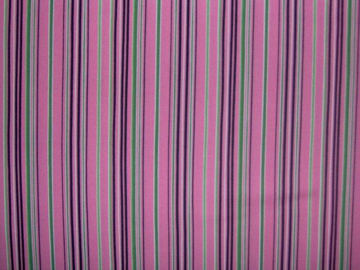 Lagon Dragon Pink Stripe Cotton Quilting Fabric by Maywood Studios 1+ Yard LAST PIECE!