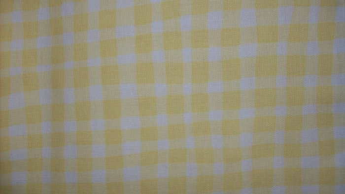 Little Suzy's Zoo Yellow Gingham QUILT COTTON SEWING FABRIC FAT EIGHTH F8 F8TH
