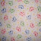 F8 Puppy Dogs on White POLYESTER Flannel Fabric Fat Eighth F8th