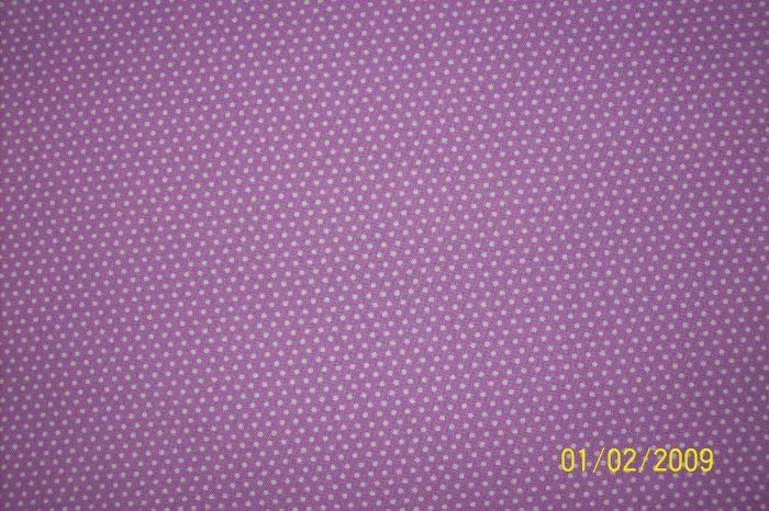 RJR Everything But the Kitchen Sink White Polka Dots on Purple 1930s Repro Fabric Fat Quarter FQ