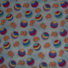Beach Ball Goldfish Toss on Blue by Fabric Visions Fat Quarter FQ