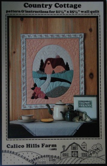 Country Cottage Vintage Wall Hanging Pattern by Calico Hills Farm