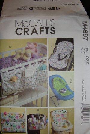 McCall Crafts Baby Accessories Nursery Pattern M4897