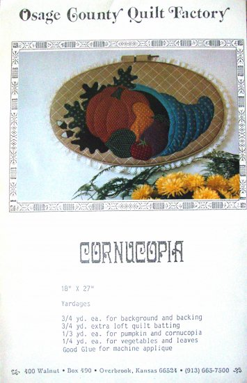 Cornucopia Vintage Wall Hanging Pattern by Osage County Quilt Factory