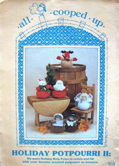 Holiday Potpourri II Roly Poly Dolls Sewing Craft Pattern by All Cooped Up