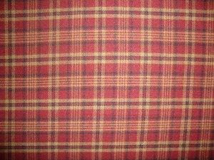 Rust Tan Black Plaid Double Sided Cotton Homespun Flannel Fabric Fat Quarter FQ