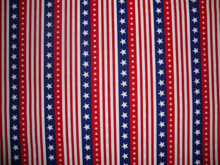 Red White & Blue Stars and Stripes Fabric Fat Quarter FQ by Oakhurst Textiles