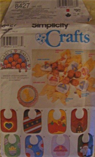 Simplicity Crafts Bobbi's Babies Baby Bibs Pattern 8427