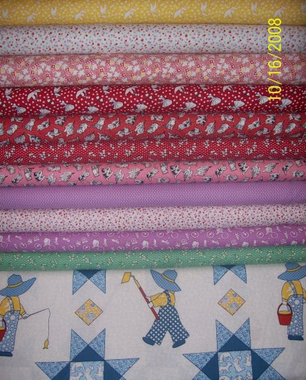 RJR Value Pack Everything But the Kitchen Sink 1930s Reproduction Fabric in 1/2 Yard Cuts