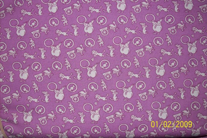RJR Everything But the Kitchen Sink Purple Circus Toss 1930s Repro Fabric Fat Quarter FQ