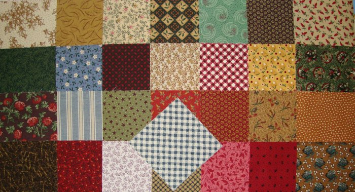 "Thimbleberries 4"" x 4"" Square Fabric Charms Quilt Blocks by Lynette Jensen for RJR Fabrics"