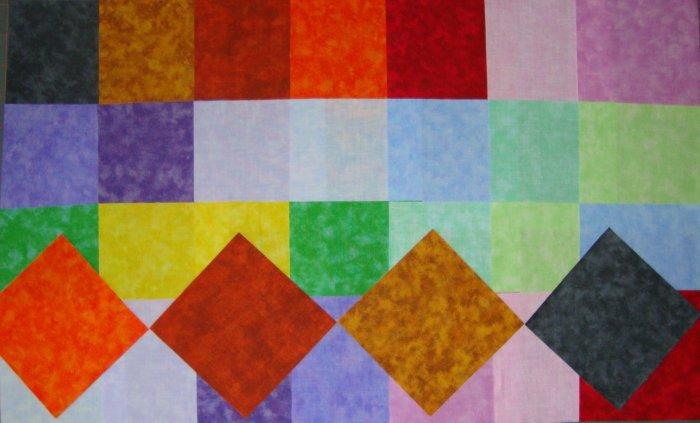 "Santee Jewel Tone 4"" x 4"" Square Fabric Charms Quilt Blocks by Santee Fabrics"