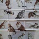 Timeless Treasures Cats Applique Quilt Block Center Fat Quarter FQ Fabric