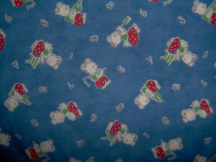 BTY Moda 26 Letters Housework Gardening Fishing Bear on Blue Cotton Fabric By the Yard