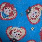 Daisy Kingdom Raggedy Ann Andy Friends Allover Hearts Fabric Fat Quarter FQ OOP HTF