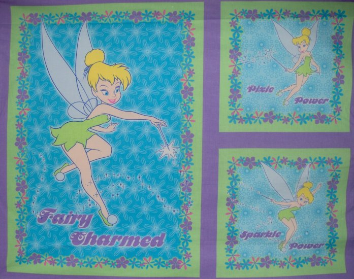 Disney Peter Pan Tinkerbell Fairy Charmed Pillows Quilt