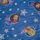 MGA Bratz Dolls Petz Head Galaxy Zebra Cotton Flannel Kids Fabric Fat Quarter FQ