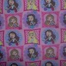 Lil' Bratz Dolls Mall Patch Squares Kids Cotton Fabric Fat Quarter FQ