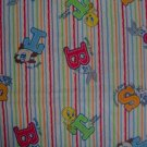 Warner Bros Baby Looney Tunes Character Toss on Stripes Kids Cotton Fabric Fat Eighth F8th F8