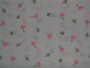 1 3/8+ Yards Vintage Beatrix Potter Flower Toss Cotton Fabric Bolt End